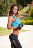 Fit brunette. Stock Photo