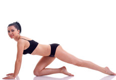 Fit brunette woman exercising Royalty Free Stock Photo