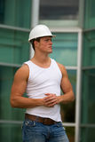 Fit construction worker Stock Photography