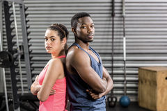 Fit couple back to back Royalty Free Stock Images