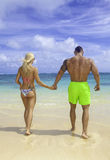 Fit couple at the beach Stock Photography