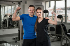 Fit Couple At The Gym Looking Very Attractive Stock Image