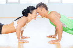 Fit couple. Royalty Free Stock Photo