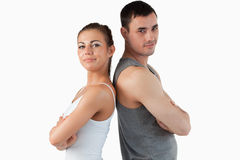 Fit couple posing Royalty Free Stock Images