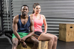 Fit couple taking a break Royalty Free Stock Photo
