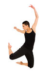 Fit dancer jumping Royalty Free Stock Image