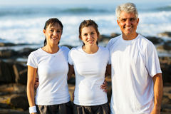 Fit family beach Stock Images