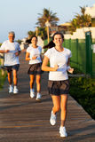 Fit family jogging Royalty Free Stock Photo