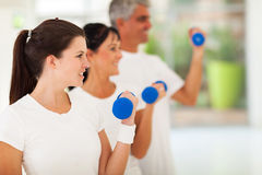 Fit family workout Stock Photos