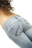 Fit female butt in jeans Stock Images