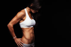 Fit female model with perfect torso Stock Photos