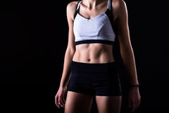 Fit figure of an athletic young woman Royalty Free Stock Image