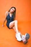 fit fysiskt teen flicka fotografering för bildbyråer