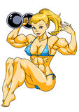 Fit girl. Fitness girl,illustration,color,logo, on a white Royalty Free Stock Photos