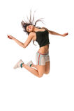 Fit girl with jumping high Stock Photos