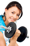 Fit girl lifting weights Royalty Free Stock Photo