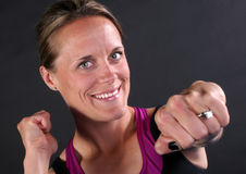Fit Girl Punch Royalty Free Stock Photography