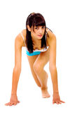 Fit girl ready to race Royalty Free Stock Photography