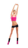 Fit girl stretching up Royalty Free Stock Photos