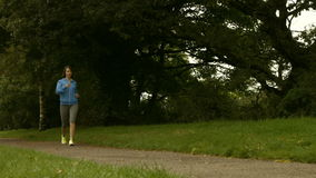 Fit girl walking