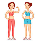 Fit girls Royalty Free Stock Photography