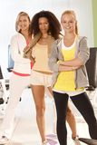 Fit girls at the gym Royalty Free Stock Image