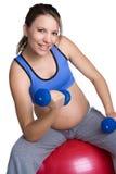 fit gravid kvinna fotografering för bildbyråer