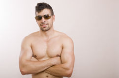 Fit guy posing Stock Images