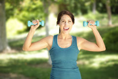 Fit and happy royalty free stock photo