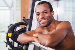 Fit and happy. Stock Photo