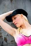 Fit and healthy blond working out Stock Photo