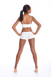 Fit healthy body of young african american woman Stock Photography