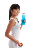 Fit healthy girl with drink Royalty Free Stock Images