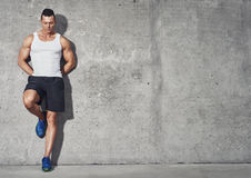 Fit and healthy man, muscular build portrait Royalty Free Stock Images