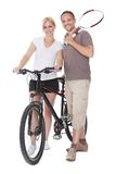 Fit healthy middle-aged parents Royalty Free Stock Photo