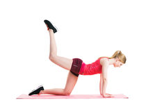 Fit, healthy and sporty woman doing an exercise Stock Images