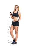 Fit, healthy and sporty woman in sportswear Royalty Free Stock Photos