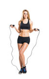 Fit, healthy and sporty woman in sportswear Stock Photography