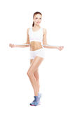 Fit, healthy and sporty woman Royalty Free Stock Photography