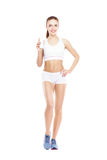Fit, healthy and sporty woman Royalty Free Stock Photo