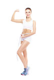 Fit, healthy and sporty woman Stock Images