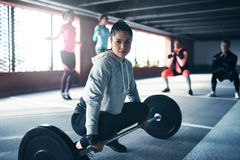 Fit healthy woman exercising Stock Image