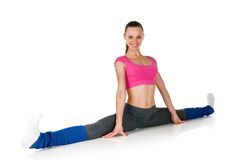 Fit healthy woman stretching Royalty Free Stock Photography