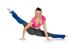 Fit healthy woman stretching Stock Image