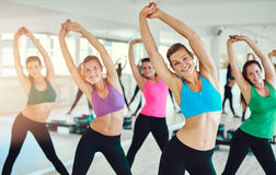 Fit and healthy women exercising Stock Image