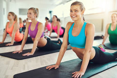 Fit healthy young women working out Stock Image