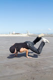 Fit hip hop dancer Royalty Free Stock Photo