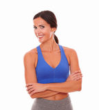 Fit hispanic lady looking at you Royalty Free Stock Image