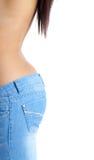 fit jeanskvinna Arkivfoton