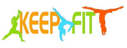 fit keep vektor illustrationer